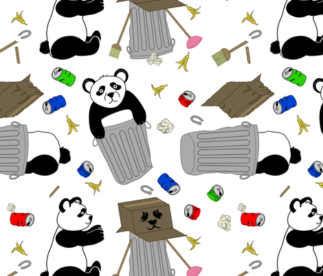trash pandas fabric by b0rwear on Spoonflower - custom fabric