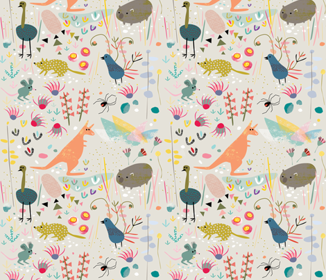 Australian Animals by Mount Vic and Me fabric by mountvicandme on Spoonflower - custom fabric