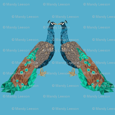 low poly peacock-01