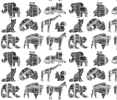 Land Animals Tribal  fabric by babyancestree on Spoonflower - custom fabric