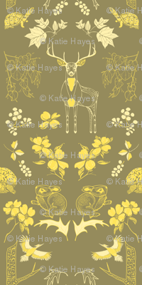 Piedmont Kingdom Wallpaper, in Gold