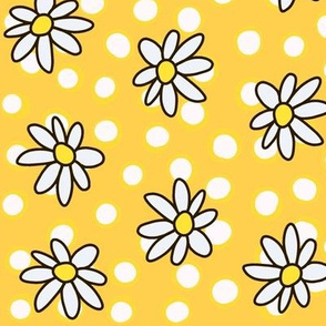 Daisies and Dots: Yellow and White