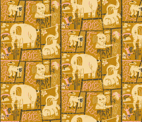 Hiya fabric by skbird on Spoonflower - custom fabric