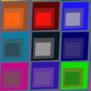 Color Theory Squares on Gray