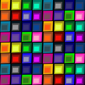 Concentric Squares Black Background