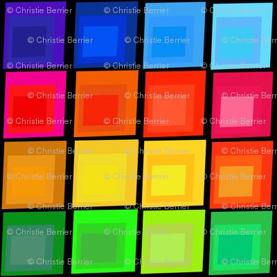 Concentric Squares: Rainbow on Black