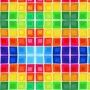 Color Squares Warp on White