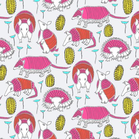 Armadillos Again fabric by angelastevens on Spoonflower - custom fabric