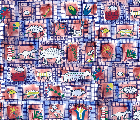 gallery of animals and plants fabric by lalalamonique on Spoonflower - custom fabric