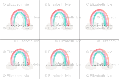 6 loveys: rainbow baby