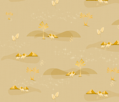 Golden Camels fabric by little_lizzie_design on Spoonflower - custom fabric