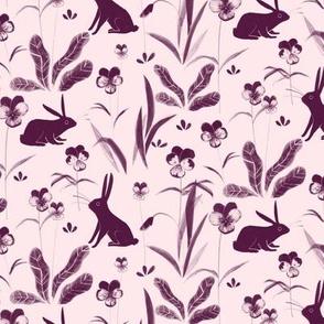 rabbits in violas