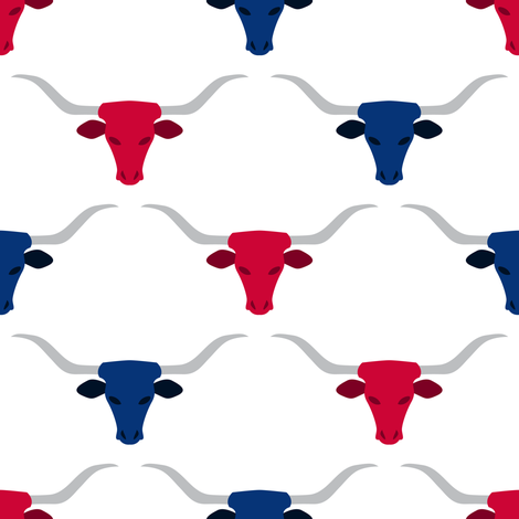 Longhorns  fabric by robyriker on Spoonflower - custom fabric