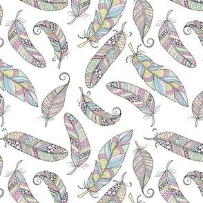 Pastel Feather Pattern