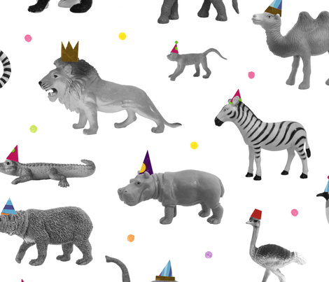 Party Animals fabric by lellobird on Spoonflower - custom fabric