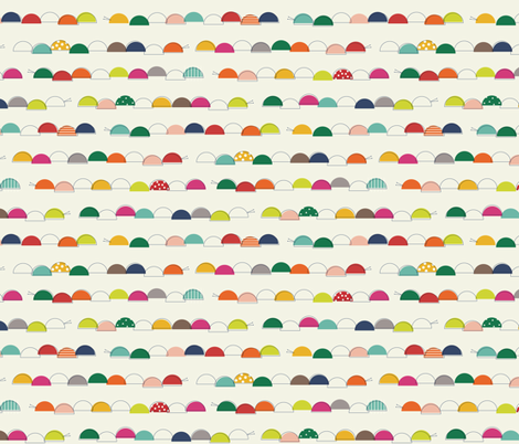 Caterpillars giggle as they wiggle fabric by katerhees on Spoonflower - custom fabric