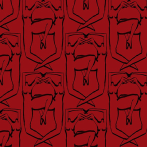 Nude Coat of Arms Red