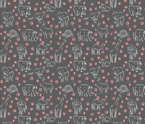 animals by land fabric by paradise_of_colors on Spoonflower - custom fabric