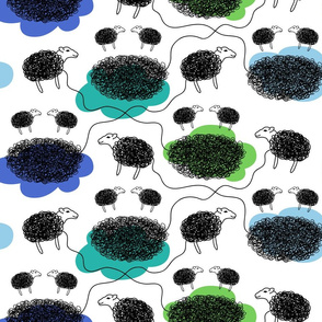 Baa, Baa, Black Sheep / cool colours