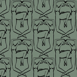 Nude Coat of Arms Green