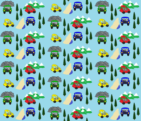 Behind the wheel - where to go? fabric by b2b on Spoonflower - custom fabric