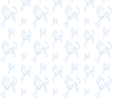 blue running horses fabric by anines_atelier on Spoonflower - custom fabric