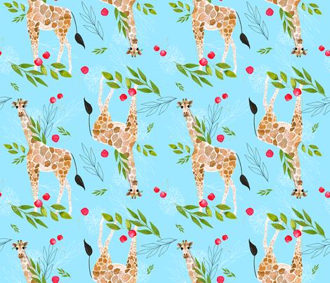 Cherry, cherry lady giraffe fabric by hala_kobrynska on Spoonflower - custom fabric