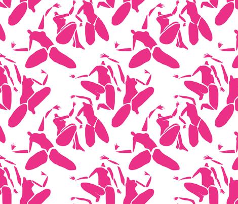 Pink Matisse Nude fabric by symmetricalwoman on Spoonflower - custom fabric