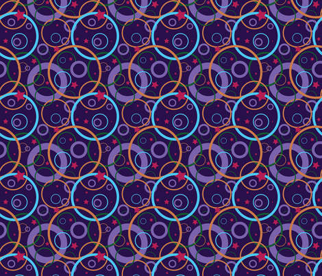 Stars & Circles - abstract simple cosmic pattern fabric by nadia_to_art on Spoonflower - custom fabric