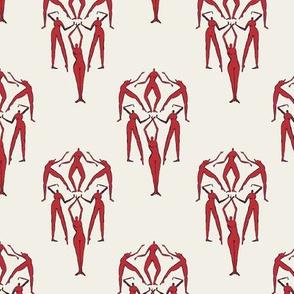 Retro Red Naked Ladies