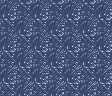 Diamond Dancers Slate Blue fabric by symmetricalwoman on Spoonflower - custom fabric
