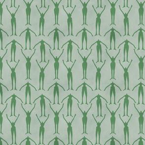 Art Deco Green Ladies