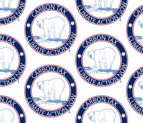 arctic tears, arctic hope. Carbon tax polar bear fabric by samantha_woodford on Spoonflower - custom fabric