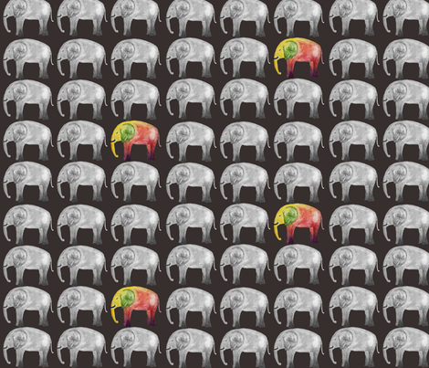 Be a Rainbow Elephant fabric by withoutaladder on Spoonflower - custom fabric