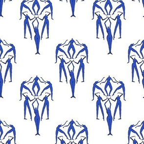 Retro Blue Naked Ladies