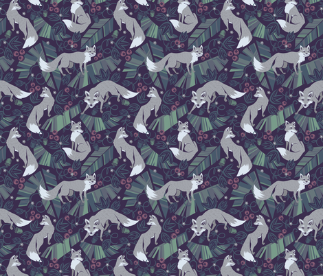 wolf tail fabric by torysevas on Spoonflower - custom fabric