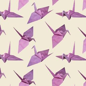 origami cranes eggshell (Med)