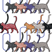 Eight cats walking in the Egyptian style by Su_G_©SuSchaefer