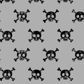 skull and bones (grey)