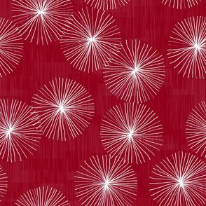 Dandelions M+M Cranberry by Friztin