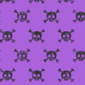 skull and bones (purple)