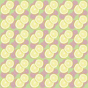 Lemon Slices in Mint Green