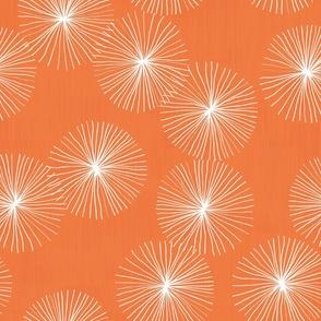 Dandelions M+M Tangerine by Friztin
