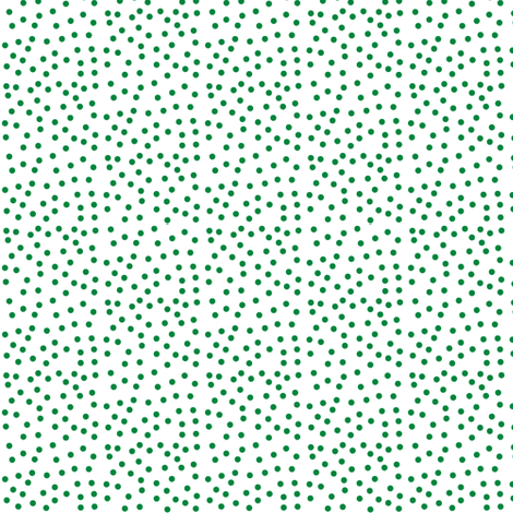 Twinkling Rainforest Green Dots on Snowy White - Extra Small Scale fabric by rhondadesigns on Spoonflower - custom fabric