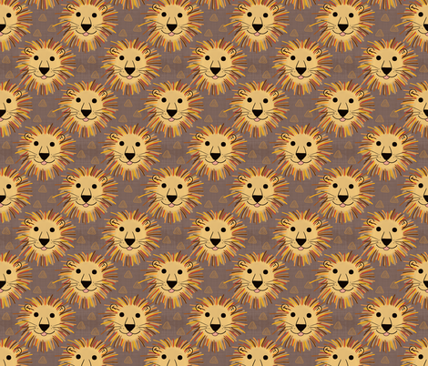 Lion Pride fabric by thewellingtonboot on Spoonflower - custom fabric