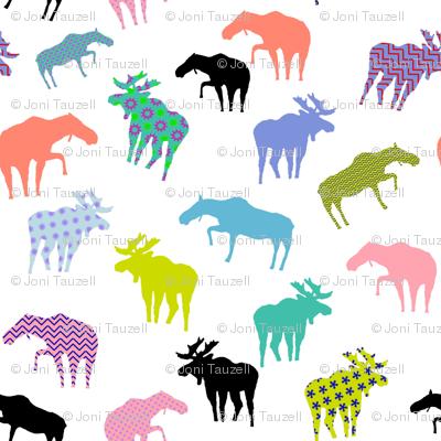 Funky Gunflint Trail Moose Pattern