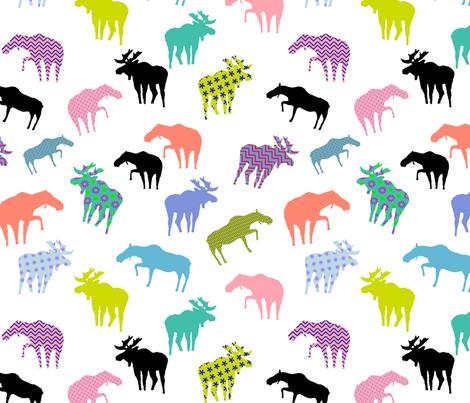 Funky Gunflint Trail Moose Pattern fabric by jktphotofab on Spoonflower - custom fabric
