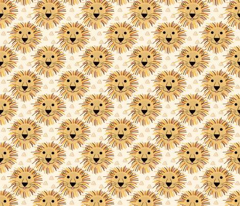 Lion Safari fabric by thewellingtonboot on Spoonflower - custom fabric