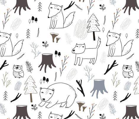 Deep forest fabric by slava on Spoonflower - custom fabric