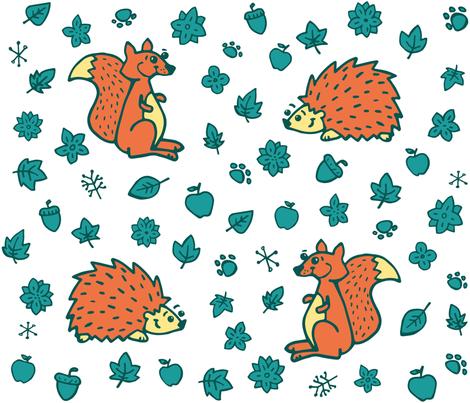hedgehod_squirrel fabric by m_iapi on Spoonflower - custom fabric